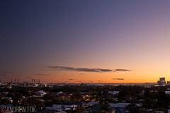 Elusive Purple Winter Sunrise (Andrew Fok Photography) Tags: sunrise pink purple orange city cityscape dawn winter