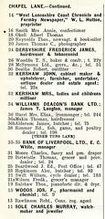 Chapel Lane S 32 1914 Seed's Directory Formby Kershaw Family (Formby Civic Society) Tags: formby merseyside chapellane kershaw johnkershaw charleskershaw bobewing ewing gertrudekershaw hallroadrailaccident seedsdirectory cheapside