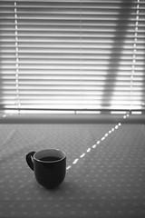 When the light takes you to coffee (krkojzla) Tags: coffee coffeetime coffeelover light lights sunlight bw blackandwhite monochromatic monochrome window table stilllife canon22mmf2 canoneosm analog retro vintage grain mug cup cupofcoffee