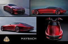 (Uno100) Tags: mercedes maybach vision 6 red 2016 coupe car