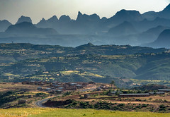 Breathtaking View - Ethiopia (Peraion) Tags: view landscape mountains ethiopia africa peaks valleys fields village