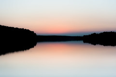 Reflection in the lake (Soren Wolf) Tags: mirror symmetry symmetric lake water sky sunset forest tree poland negative space nikon d7100 35mm abstract