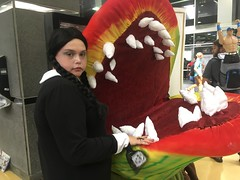 chicago wizard world comic con. august 2016 (timp37) Tags: venus fly trap plant chicago illinois conlife cosplay wednesday addams nat nathalie john cena august 2016 rosemont wizard world comic con little shop horrors cosplayer family