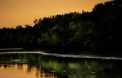 GREEN REFLECTIONS (aldogiraldo) Tags: reflections river fleuve laval sunset landscape peacefull mood tones