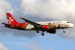 Air Malta | Airbus A320-200 | 9H-AEO | Valletta 2018 livery | London Heathrow (Dennis HKG) Tags: airmalta malta mac km airbus a320 airbusa320 aircraft airplane airport plane planespotting london heathrow egll lhr 9haeo canon 7d 70200