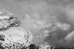 fighting forces of nature (jimx9999) Tags: salzburg sterreich austria paraglider alpen alps clouds wolken kitzsteinhorn