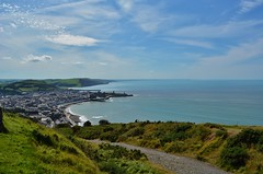 DSC_0547 (stephanie.burgess97) Tags: constitution hill aberystwyth ceredigion wales uk seascape town footpath grass clouds blue sky summer