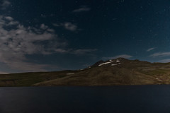 Meteor above Mountain (anmahooo) Tags: stars night longexposure canon canon550d armenia aragats lake kari meteor perseid mountain meteorshower