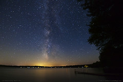 Night Sky, Lake Wassookeag (Greg from Maine) Tags: starlight nightsky milkyway wassookeag lakewassookeag maine penobscotcounty nature dock merrillcove