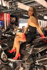 Eicma model (themax2) Tags: pantyhose highheels miniskirt promoter girl legs model 2011 milano hostess eicma