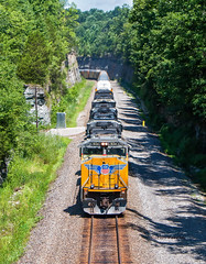 A Cut Above (Wheelnrail) Tags: up ns union pacific locomotive emd railroad train sd70m kings mountain kentucky cnotp manifest trains rails noise