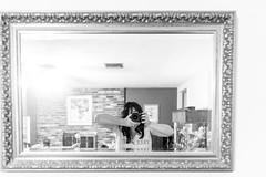 Me & My Nikon (cmh photographs) Tags: self selfportrait camera woman nikon d750 blackwhite mirror reflection indoor