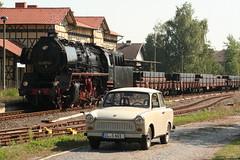 2016-09-15; 083.  Loc 50 0072-4 en SL 110 108-8 met Guterzug 202, Immelborn (Martin Geldermans; treinen, Zge, trains) Tags: 5000724 1101088 eisenach plandampf2016 kohlefrdampfstahlfrparis igewerrabahn immelborn stoomtrein stoom steamlocomotive steam dampf dampfzge dampflok