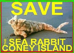 SAVE THE SEA RABBIT, official poster, design by Dr. Takeshi Yamada. Coney Island Sea Rabbit Center.  2008-01 FINAL (searabbits23) Tags: searabbit seara takeshiyamada  taxidermy roguetaxidermy mart strange cryptozoology uma ufo esp curiosities oddities globalwarming climategate dragon mermaid unicorn art artist alchemy entertainer performer famous sexy playboy bikini fashion vogue goth gothic vampire steampunk barrackobama billclinton billgates sideshow freakshow star king pop god angel celebrity genius amc immortalized tv immortalizer japanese asian mardigras tophat google yahoo bing aol cnn coneyisland brooklyn newyork leonardodavinci damienhirst jeffkoons takashimurakami vangogh pablopicasso salvadordali waltdisney donaldtrump hillaryclinton endangeredspecies save