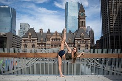(rebekkaweigand) Tags: legs blondie outdoors toronto model backlegpull location background acro flexible dancer