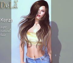 """=DeLa*= new hair """"Kenza"""" (=DeLa*=) Tags: dela hair fitted rigged mesh materials secondlife secondlifefashion sl slhair style"""