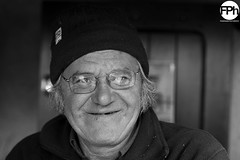 Christian II (Frankhuizen Photography) Tags: christian lac de bethmale france 2016 bw zw black white zwart wit portret portrait street straat fotografie photography frankrijk glasses bril smile glimlach posed geposeerd