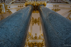 2016 - Baltic Cruise - St. Petersburg - Hermitage 4 (Ted's photos - For Me & You) Tags: 2016 cropped tedmcgrath tedsphotos vignetting russia stpetersburg unesco unescoworldheritagesite ussr hermitage winerpalace hermitagewinterpalace columns granite thestatehermitagemuseum