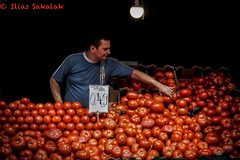 Tomato seller (Ilias Sakalak) Tags: tomato seller vegetable market