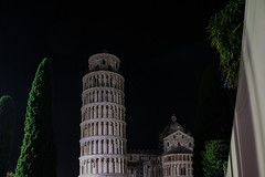 Leaning (rekuckoo) Tags: leaning tower pisa night stars tree dazzle lights italy cityscapes