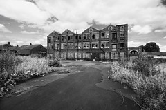 Derelict (Maria Spadafora (@BloodyNoraDJ)) Tags: derelict architecture abandoned blackandwhite monochrome grainy leeds morley yorkshire wideanglelens wideangle