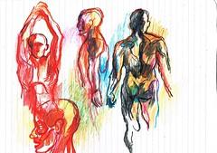 PROYECTO 132-78, ESTUDIOS (GARGABLE) Tags: angelbeltrán apuntes lápicesdecolores portrait retrato sketch drawings dibujos anatomia gargable