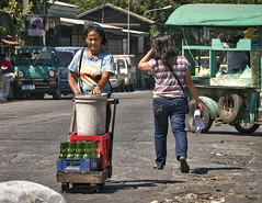 Steady (Beegee49) Tags: cart pushing street bacolod city philippines filipina