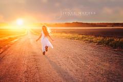 Be Free (JeneeMathes) Tags: run running child kid girl littlegirl country countryroad backroad sunset ambient fun befree septembersun jeneemathes jenee mathes buhlerks buhler nikon nikkor 85mm portraitphotographer ksphotog