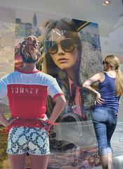 Style & Fashion (swong95765) Tags: women females ladies window shopping advertising fashion imagery sidewalk