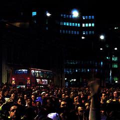 London Bridge (Simon-Radford) Tags: urban london art night canon lights lowlight transport digitalart streetphotography nighttime modified topaz simplify hss digitalimagemanipulation 60d topazsimplify slidersunday t189october2010