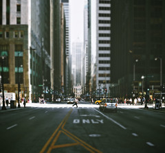 LaSalle Street (vonderauvisuals) Tags: life street city urban chicago blur streets color cars car canon buildings photography 50mm photo aperture alone cityscape gloomy post photos district f14 empty shift dreary gritty panoramic business together jungle 7d processing only multiple stitching lasalle tall create visuals middle tilt cavern financial grading larger density lanes merged gaussian concerte correction simulated chicagoist vonderau pixelmator vsco vonderauvisuals