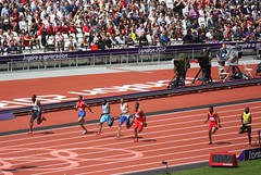 100m Round 1 Heats (Sum_of_Marc) Tags: park london field sport athletic athletics track stadium games olympic athletes olympics stratford london2012 ioc iaaf