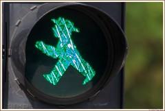 Ampelmnnchen says: Green! (Isabel Fagg) Tags: berlin green germany trafficlight groen vert allemagne ampelmnnchen duitsland verkeerslicht