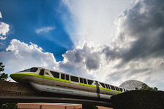 Monorail Monday - I'm Going to Disney World! (Brett Kiger) Tags: world sun storm rain clouds canon eos epcot energy disney 7d monorail wdw universe walt 1022mm