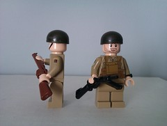 British Paratrooper helmets wip (The Desert Rat) Tags: lego ww2 paratrooper brickarms flickrandroidapp:filter=none