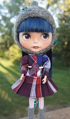 Wearing her new Lulu dress!