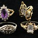 5017. Large Group of Gold and Gem Set Rings