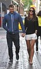Brian McFadden and fiancee Vogue Williams out doing some last minute shopping around Grafton Street. Dublin, Ireland