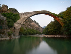 Konitsa (kzappaster) Tags: bridge reflection river olympus greece ft e3 zuiko 43 stonebridge zd 1122mm konitsa aoos hepirus