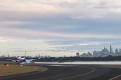 Flying off (ZawWai09) Tags: tarmac skyline flight sydney australia syd takeoff runway fume windowseat sydneyairport cityview kingsfordsmith flyoff flightwindow