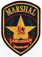 TX - Lancaster Marshal (Inventorchris) Tags: public office texas peace cops tx police safety cop lancaster service law enforcement patch emergency marshal patches department officer officers saftey