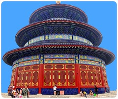 Temple of Heaven: an Imperial Sacrificial Altar in Beijing (On Explore #283 August 30) (jackfre2 (on a trip-voyage-reis-reise)) Tags: china temple beijing explore templeofheaven mygearandme mygearandmepremium altarofheaventhehallofprayerforgoodharvests onexplore283august30