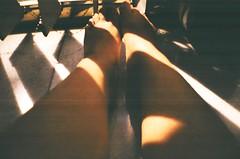 50720017 (MaskedPanda) Tags: light shadow sunlight film feet 35mm foot la lomo lomography sardina fujifilm domino toycam
