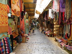 Street in the Christian Quarter of the Old City (Normann) Tags: street shop israel alley market jerusalem souvenir