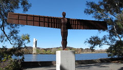 "Antony GORMLEY ""Angel of the North"" in Canberra 1996 (spelio) Tags: canberra act lake burley griffin walk sep 2012 spring stroll scenic art link australia good sculpture statue gardens nga australiancapitalterritory fave 1195views160317"