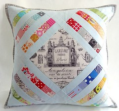 My entry for the MQP swap (Cottilello) Tags: modern diamond pillow swap quilted patchwork cushion xfactor