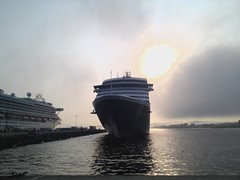 Westerdam (NorthernExpedition) Tags: cruise cloud sun holland water fog point ship princess victoria terminal line american ogden westerdam