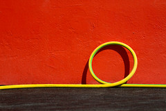 twist (Thomas Leth-Olsen) Tags: red yellow wall circle colours graphic details minimal curve minimalist graphical tuyau colorcontrast urbanabstract carqueiranne