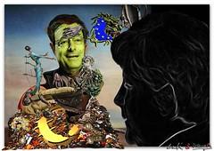 EURO: Counterfreiter (OBJECTIVE-MAN) Tags: money black green art deutschland artwork europa euro surrealism kunst eu versailles grn dali salvadordali schwarz merkel geld kunstwerk bundeskanzler ezb angelamerkel europischezentralbank paymaster surrealismus bundeskanzlerin esm dummkopf draghi mariodraghi eudssr dullhead zahlmeister eurocrisis eurokrise eurobonds geldwirtschaft versaillesohnekrieg versailleswithoutwar