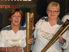 Olympic Torches at the Preston Guild (7) (Tony Worrall Foto) Tags: england gold northwest torches candid group lancashire torch preston blaze olympics london2012 olympictorch prestonguild prestonian 2012tonyworrall janicejohnstone weplayexpo